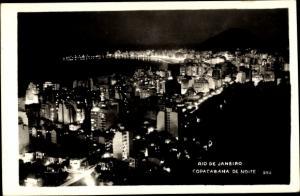 Foto Ak Rio de Janeiro Brasilien, Copacabana de Noite