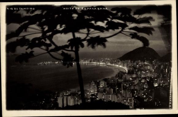 Foto Ak Rio de Janeiro Brasilien, Noite de Copacabana 0