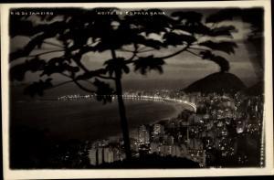 Foto Ak Rio de Janeiro Brasilien, Noite de Copacabana