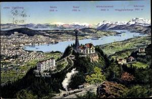 Ak Zürich Stadt Schweiz, Uetliberg, Panorama vom Ort