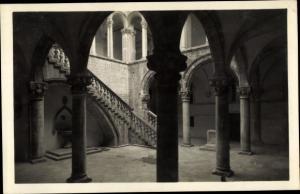Ak Ragusa Dubrovnik Kroatien, Kloster Innenansicht, Treppe
