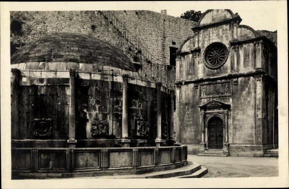 Ak Ragusa Dubrovnik Kroatien, Kloster Außenansicht 0
