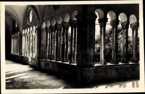 Ak Ragusa Dubrovnik Kroatien, Kloster Innenansicht, Franziskanerkloster 0