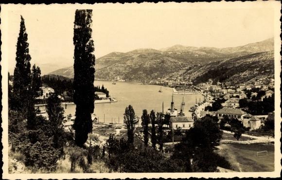 Ak Dubrovnik Kroatien, Gruz, Panorama 0