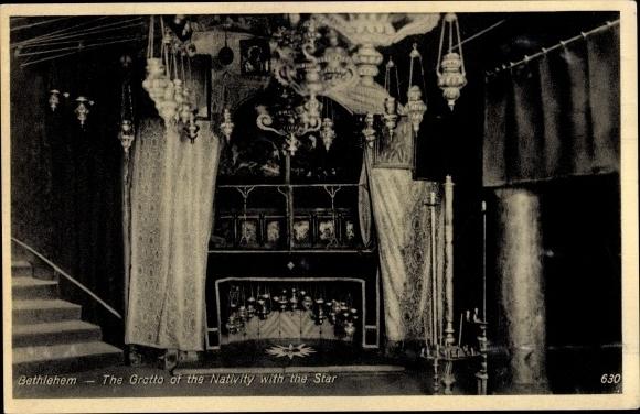 Ak Bethelem Palästina, The Grotto of the Nativity with the Star 0
