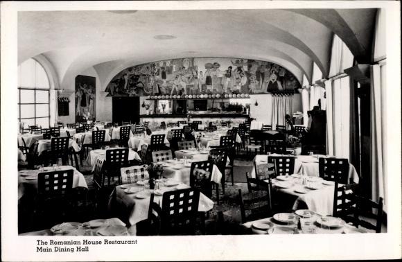 Ak New York City USA, The Romanian House Restaurant, Main Dining Hall 0