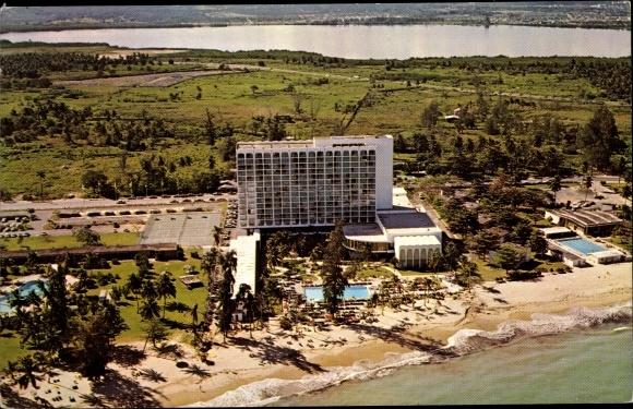 Ak San Juan Puerto Rico, Americana Hotel, Außenansicht 0