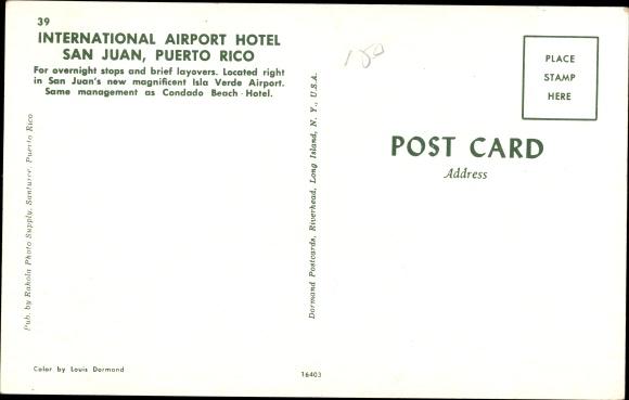 Ak San Juan Puerto Rico, International Airport Hotel, Außeansicht 1
