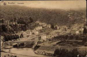 Ak Bouillon Wallonien Luxemburg, Panorama vom Ort