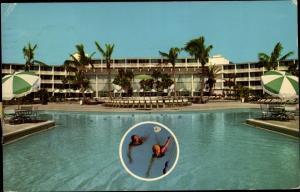 Ak Nassau Bahamas, Holiday Inn, Außenansicht, Schwimmbad