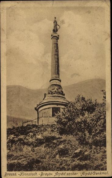 Ak Brașov Brassó Kronstadt Rumänien, Brasov Arpad szobor, Arpad Denkmal 0