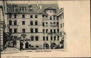 Ak Luzern Stadt Schweiz, Hotel des Balances