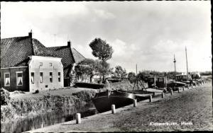 Ak Kloosterburen Groningen Niederlande, Haven, Fischkutter