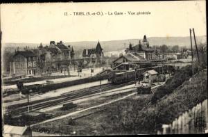 Ak Triel sur Seine Yvelines, La Gare, Vue generale