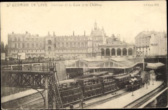 Ak Saint Germain en Laye Yvelines, La Gare, Interieur, Le Chateau 0