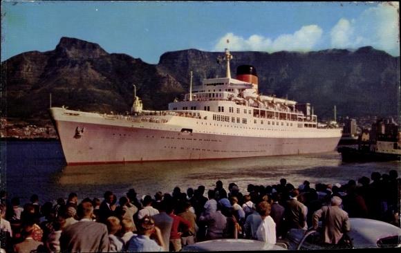 Ak Steamer Windsor Castle, Dampfschiff, Union Castle Line 0