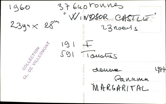 Ak Steamer Windsor Castle, Dampfschiff, Union Castle Line 1