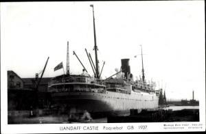 Ak Steamer Llandaff Castle, Dampfschiff, Union Castle Line