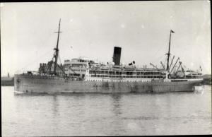 Foto Ak Steamer Llanstephan Castle, Dampfschiff, Union Castle Line