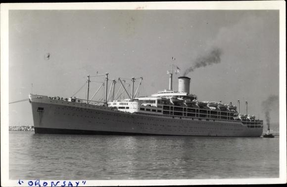 Ak Steamer Oronsay, Dampfschiff, Orient Line 0