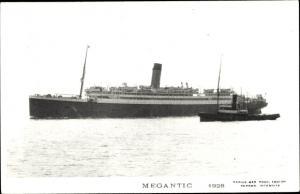 Ak Steamer Megantic, Dampfschiff, White Star Line