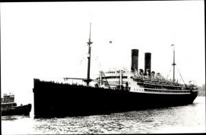 Foto Ak Steamer Arabic, Dampfschiff, White Star Line