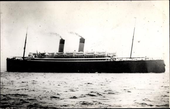 Foto Ak Steamer Laurentic, Dampfschiff, White Star Line 0