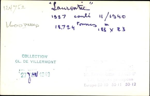 Foto Ak Steamer Laurentic, Dampfschiff, White Star Line 1