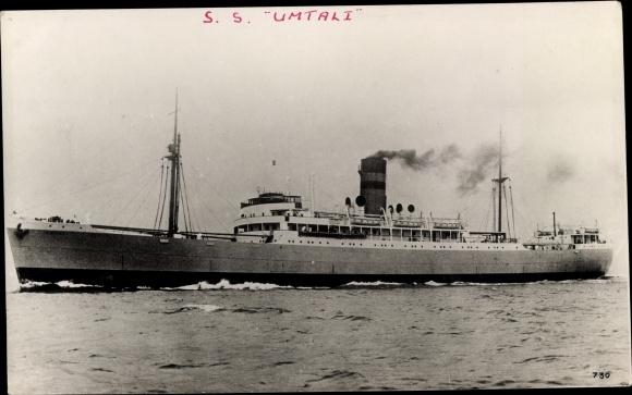 Foto Ak Steamer Umtali, Dampfschiff, Natal Line 0