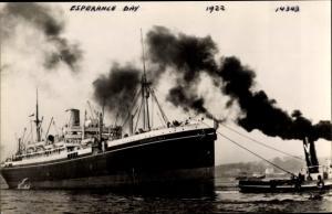 Ak Dampfer Esperance Bay, Shaw Savill Line