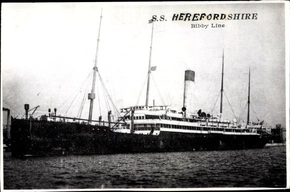 Ak Dampfer SS Herefordshire, Bibby Line 0