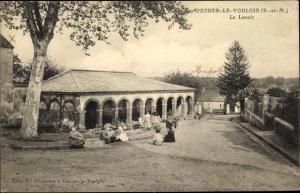 Ak Ozouer le Voulgis Seine et Marne, Le Lavoir