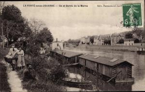 Ak La Ferté-sous-Jouarre Seine-et-Marne, Ile et Bords de la Marne
