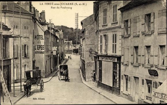Ak La Ferté-sous-Jouarre Seine-et-Marne, Rue du Faubourg 0