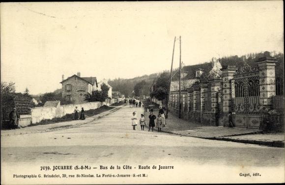 Ak Jouarre Seine et Marne, Bas de la Cote. Route de Jouarre 0
