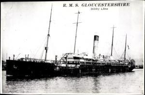 Ak Dampfer Gloucestershire, Bibby Line