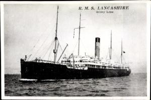 Ak Dampfer Lancashire, Bibby Line