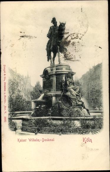 Relief Ak Köln am Rhein, Kaiser-Wilhelm-Denkmal 0