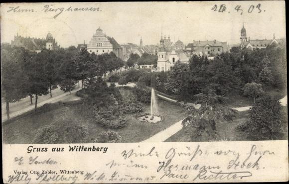 Ak Lutherstadt Wittenberg, Panorama 0