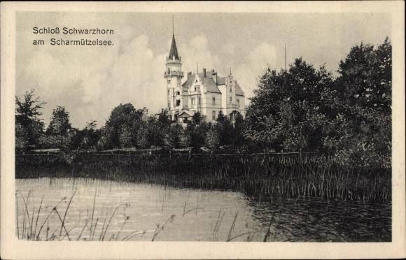Ak Wendisch Rietz im Kreis Oder Spree, Schloss Schwarzhorn, Scharmützelsee 0