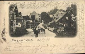 Ak Schierke Wernigerode am Harz, Ortspartie