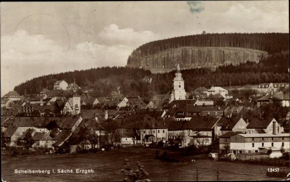 Ak Scheibenberg Sachsen, Panorama 0