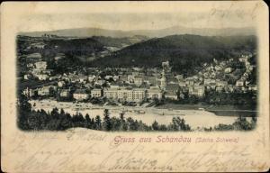 Ak Bad Schandau Sächsische Schweiz, Panorama