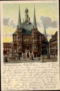 Litho Wernigerode am Harz, Rathaus