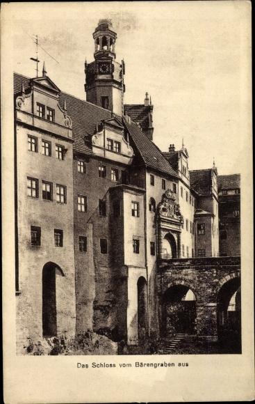 Ak Torgau an der Elbe, Schloss Hartenfels 0