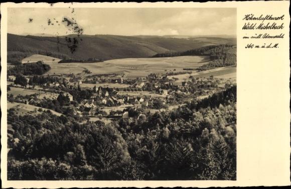 Ak Waldmichelbach Wald Michelbach im Odenwald Hessen, Gesamtansicht 0