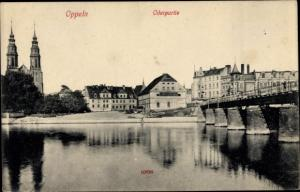 Ak Opole Oppeln Schlesien, Oderpartie, Kirche, Brücke