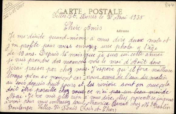 Ak Selles Saint Denis Loir et Cher, Place du Mail 1