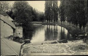 Ak Selles Saint Denis Loir et Cher, Partie am Wasser