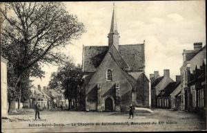 Ak Selles Saint Denis Loir et Cher, La Chapelle de Siant Genouif